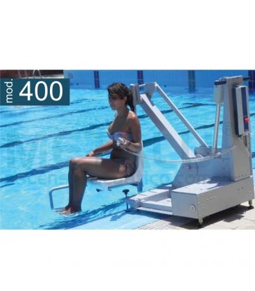 The portable lift model 400 has a lifting capacity of 120 KG