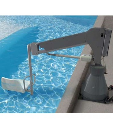 With the battery lift 3000, people with physical limitations will be able to access the pool autonomously and independently