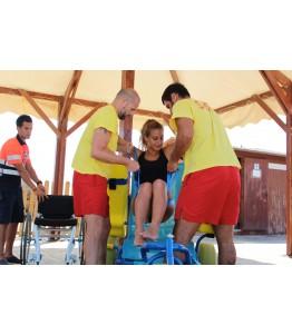 Novaf-Easy, permite trasladar a la persona con movilidad reducida desde su silla de ruedas hasta otro asiento