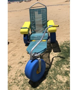 The Atlantic Chair (Oceanic) is an amphibious chair that allows people with reduced mobility to swim on the beach