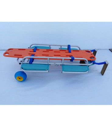 The Novaf rescue stretcher has floats on the sides to make it stable in the water