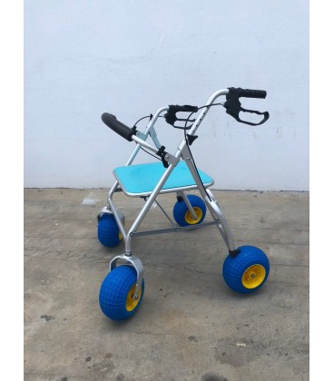 Enjoying the sea and the countryside with the Rollator City will no longer be an impediment