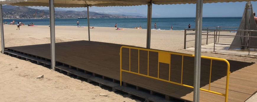 Las playas de El Dedo y La Misericordia, adaptadas a discapacitados
