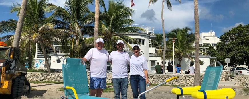 Probando nuestro equipamiento con el Departamento de Ocean Rescue en Miami Beach