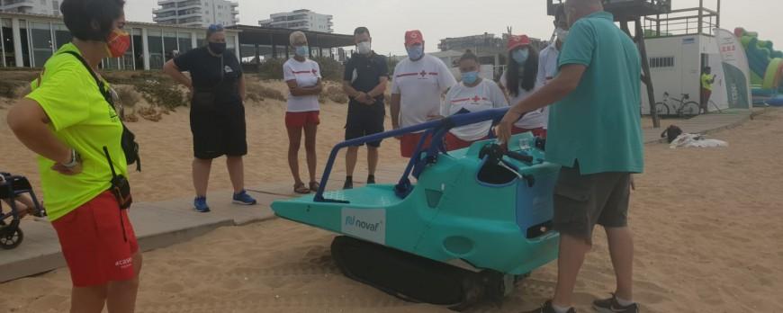 El Ayuntamiento de Punta Umbría (Huelva) con el nuevo vehículo MRI1 de NOVAF